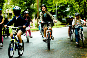 Happy Kids Biking