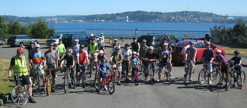 west seattle bike connections and Stu at alki